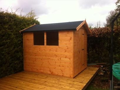 Shed With Kerabit Roofing Felt