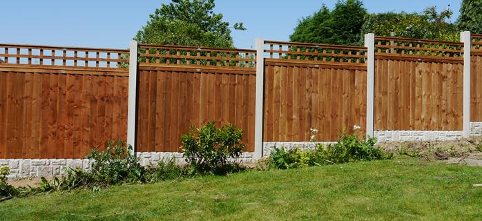 Fence with trellis tops