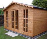 12ft wide x 8ft Deep Georgian Summerhouse