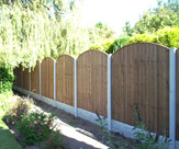 Convexed Feather Edge Fencing