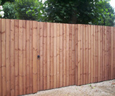 6ft high Closeboard Fencing with Gate