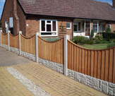 Concaved Feather Edged Fence Panels