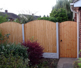 Arched Matchboard Gate