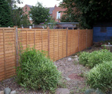 Waney Edge Fence Panels with 3 x 3 Wooden Posts