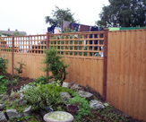 Feather Edged Fence Panels + 2ft Flat Top Trellis