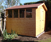 9ft x 7ft Apex Shed with 4Fixed Windows