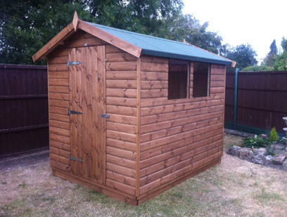Apex Shed in Tongue and Groove Loglap