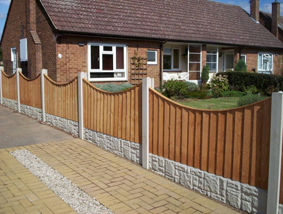 Concaved Feather Edge Fence Panels