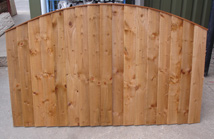 Convexed Feather Edged Fence Panel
