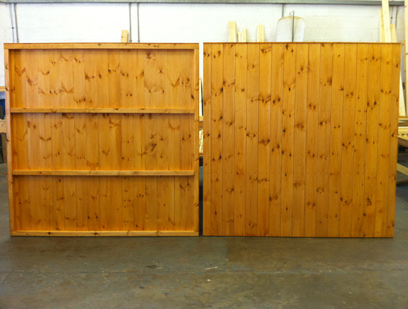 Tongue and Grooved Redwood Matchboard Fence Panel