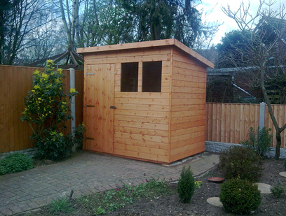 Pent - Matchboard Shed