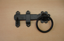 6 inch Black Ring Latch