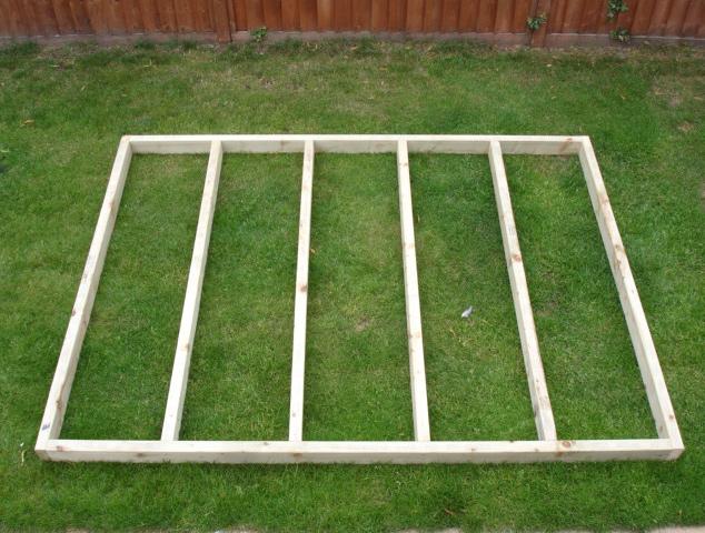 Shed Timber Base Long Eaton Fencing