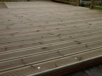 Pressure Treated Green Timber Decking